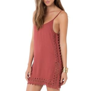 O'Neill Darby Lace Trim Cover-Up Slip Dress